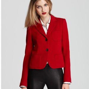 Theory Flame Red Nillian Valleius Button Blazer 8